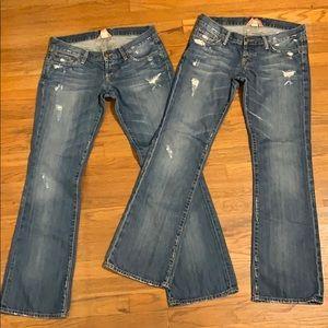 Lucky brand jeans distressed regular 8/29 inseam